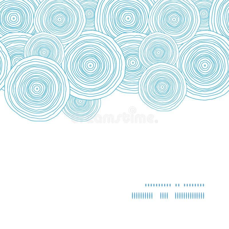 传染媒介乱画圈子水平水的纹理 库存例证