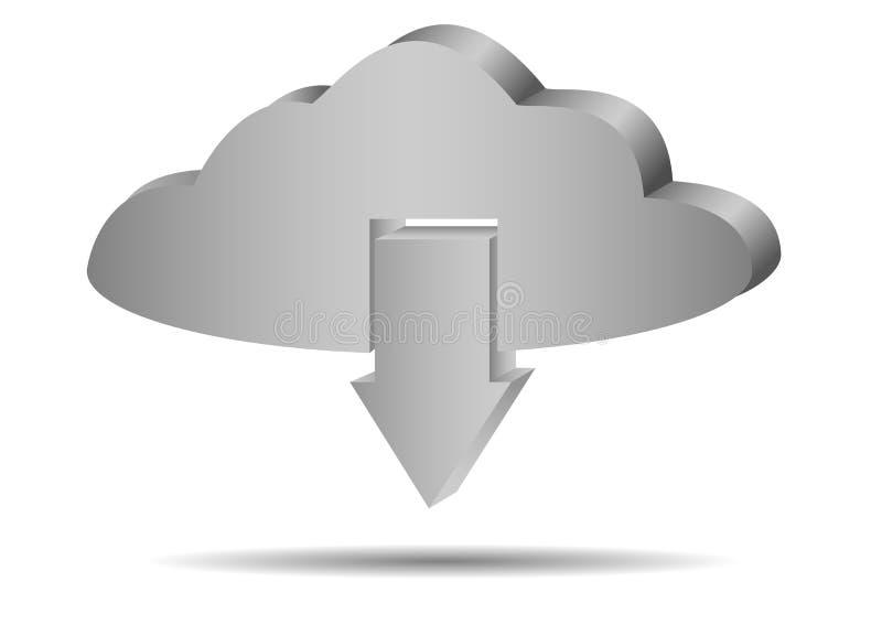 传染媒介云彩下载象 向量例证