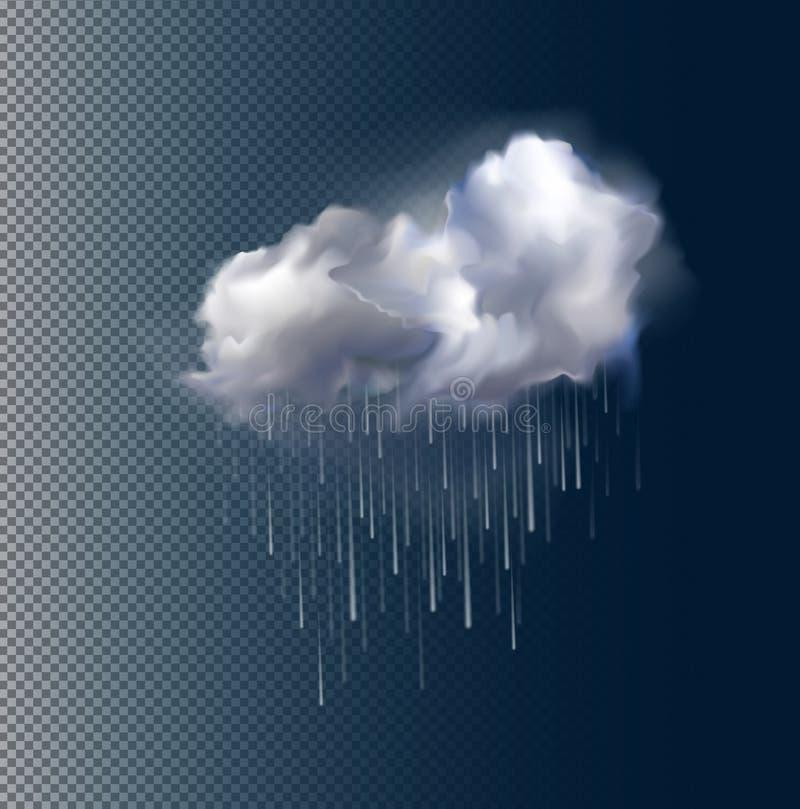 传染媒介云彩和雨 向量例证