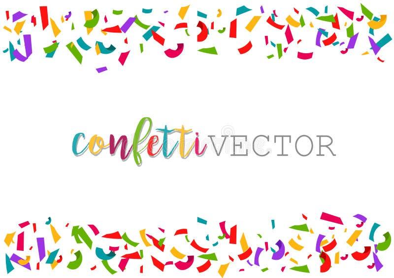 传染媒介五彩纸屑 五颜六色的庆祝框架背景 库存例证
