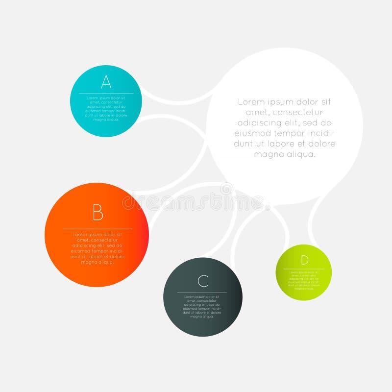 传染媒介五颜六色的信息图表 库存例证