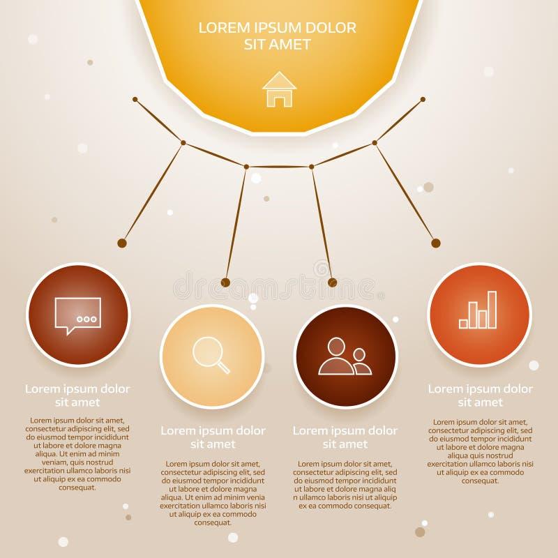 传染媒介五颜六色的信息图表 向量例证