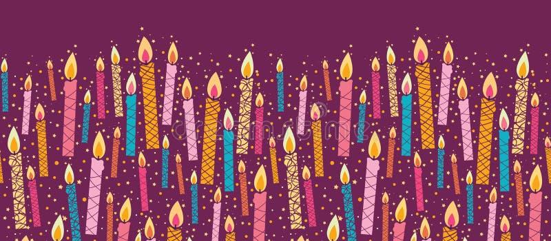 传染媒介五颜六色的生日对光检查水平 皇族释放例证