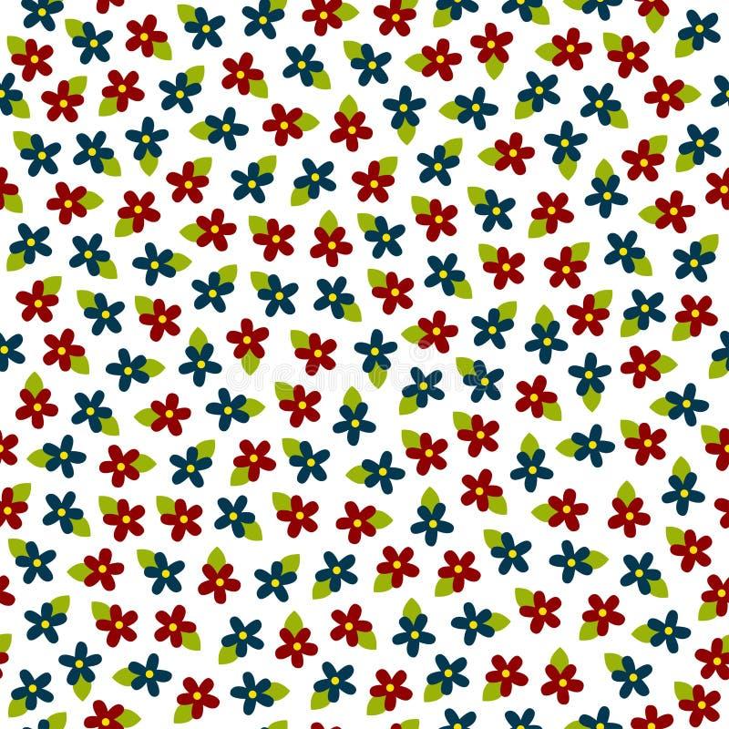 传染媒介五颜六色的花无缝的样式 免版税图库摄影
