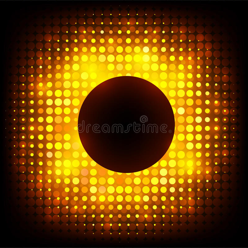 传染媒介五颜六色的迪斯科点燃框架 向量例证