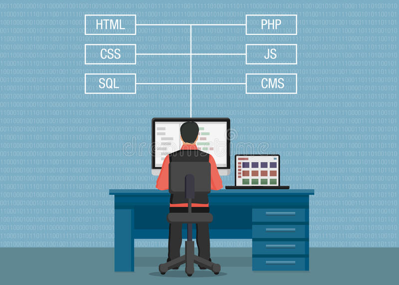 传染媒介人开发商网站 向量例证