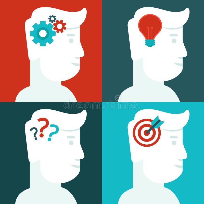 传染媒介人的想法的概念 库存例证