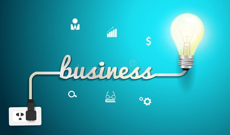 传染媒介企业与创造性的启发概念  库存例证