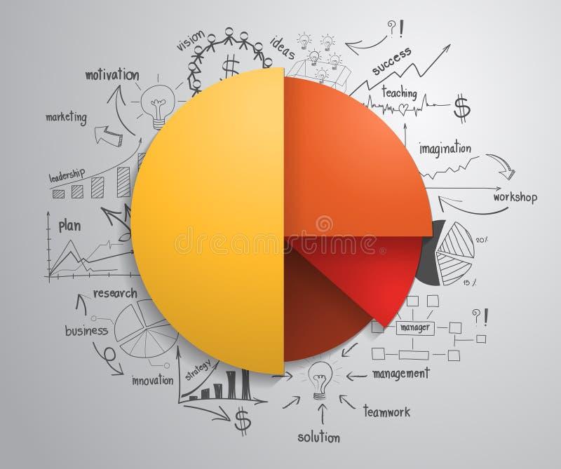 传染媒介企业与画c的Infographics圈子 皇族释放例证