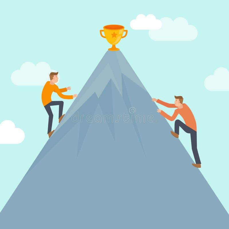 传染媒介企业在平的样式的竞争概念 向量例证