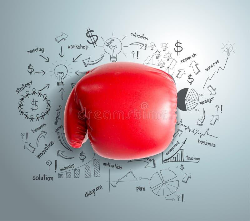 传染媒介企业战斗的想法概念 向量例证