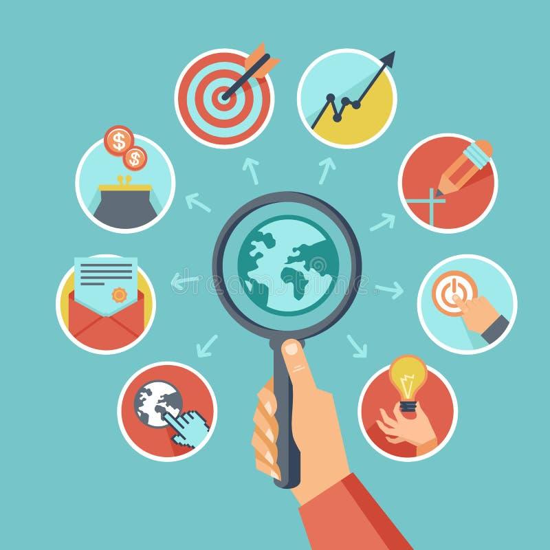 传染媒介企业概念 向量例证