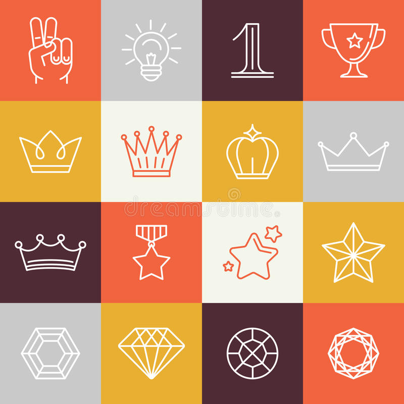 传染媒介优胜者奖和胜利标志 皇族释放例证