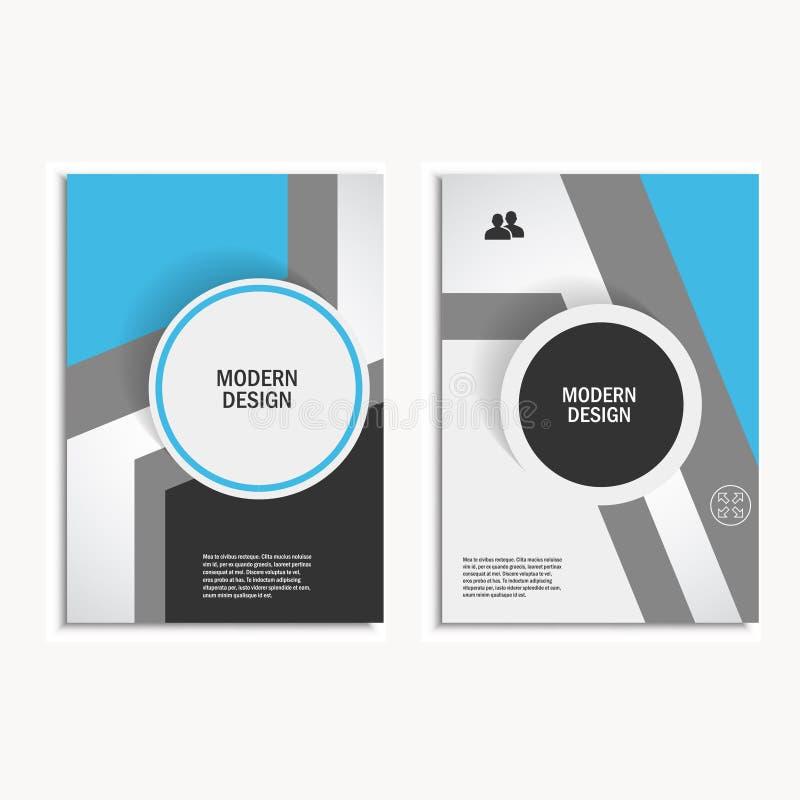 传染媒介传单小册子飞行物模板A4大小设计,年终报告,书套布局设计,抽象盖子设计 向量例证
