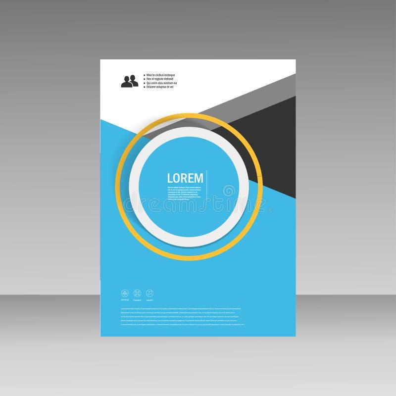 传染媒介传单小册子飞行物模板A4大小设计,年终报告,书套布局设计,抽象盖子设计 免版税库存照片