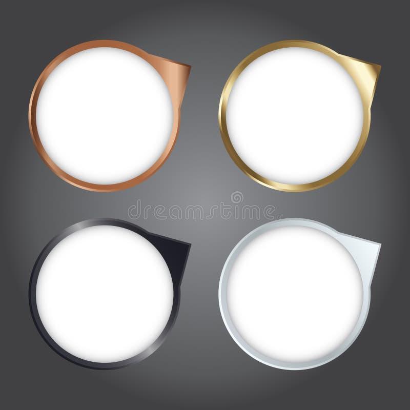 传染媒介例证、现代金属象和模板设计的a 向量例证