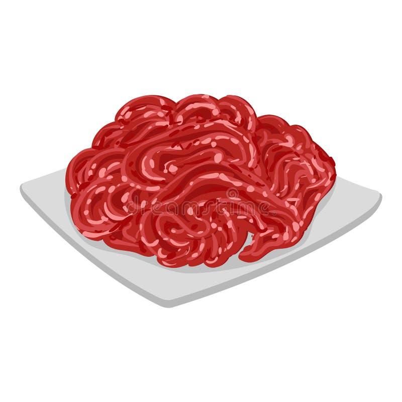传染媒介例证剁碎肉 向量例证