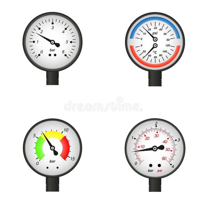 传染媒介例证套测压器 向量例证