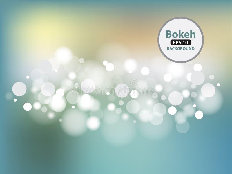 传染媒介例证摘要光和bokeh 向量例证