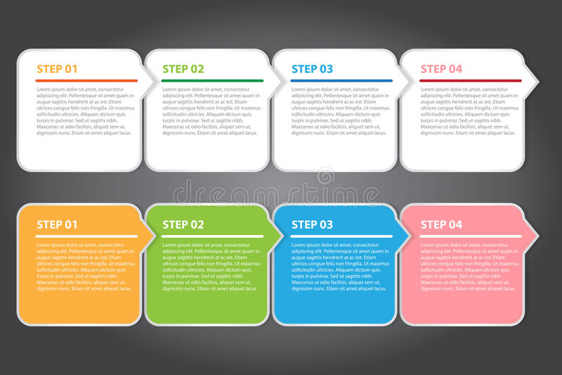传染媒介例证,创造性的工作的五颜六色的横幅模板 库存例证
