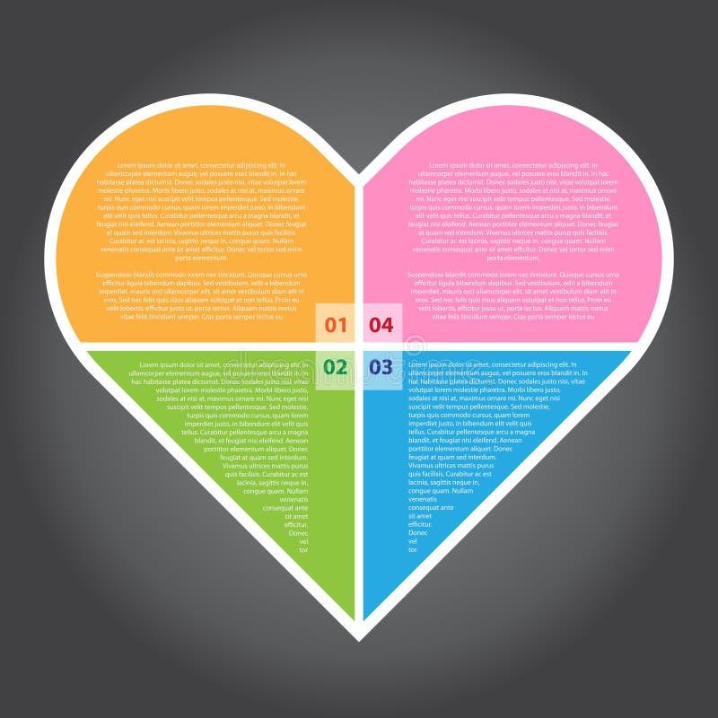 传染媒介例证,设计工作的Infographic心脏 向量例证