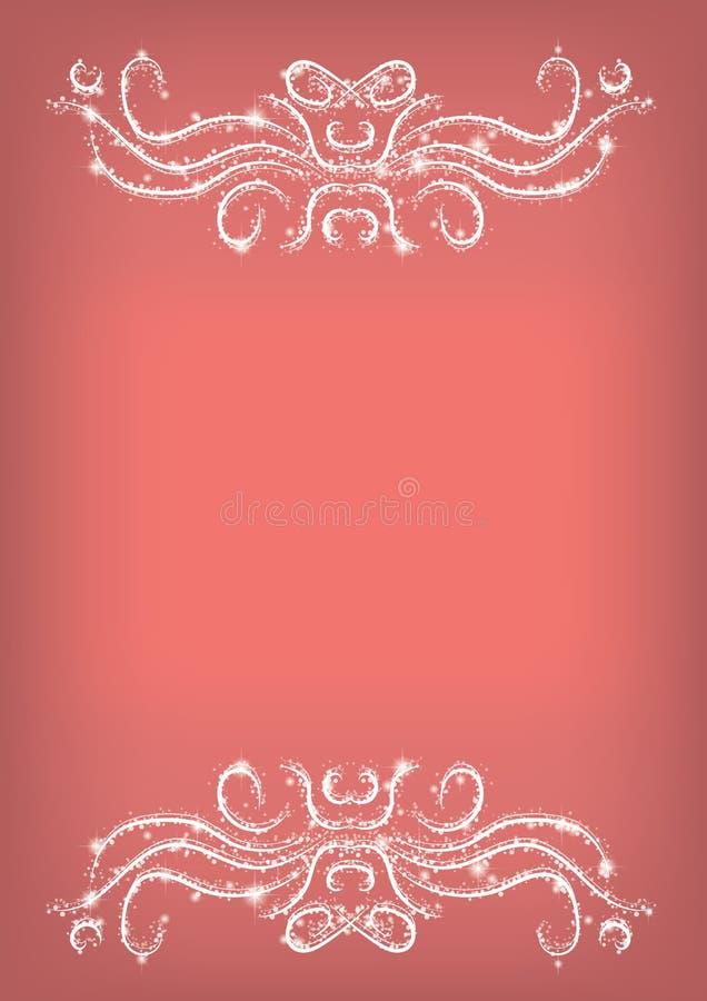 传染媒介例证-与光亮的装饰品的马尔萨拉抽象背景 库存例证