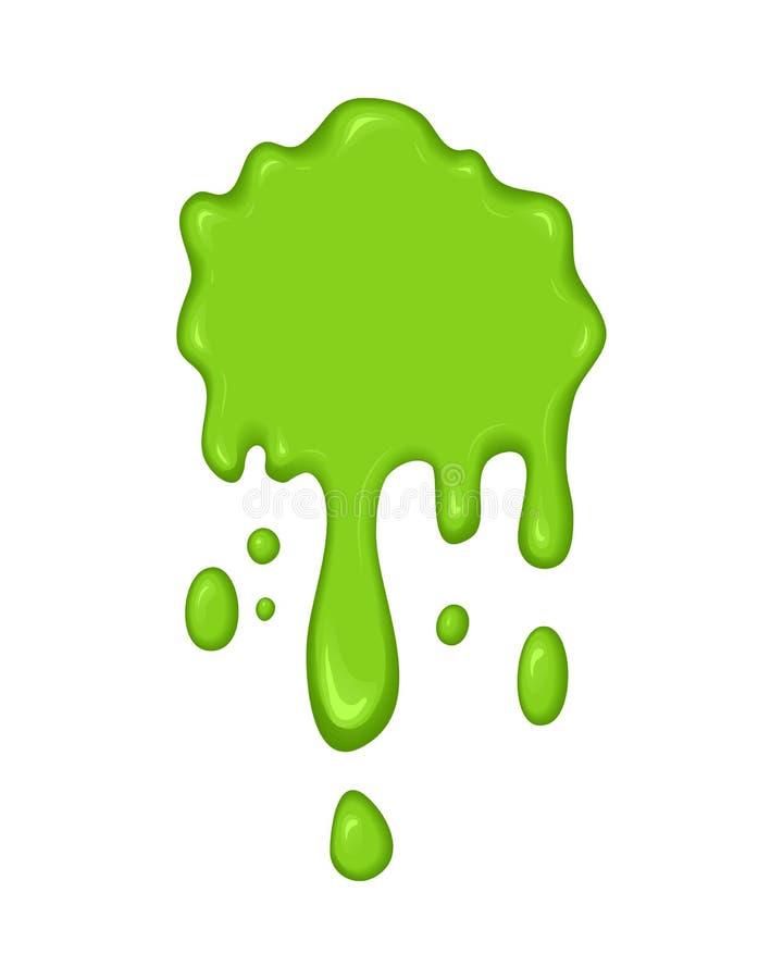 传染媒介例证-绿色软泥滴水 库存例证