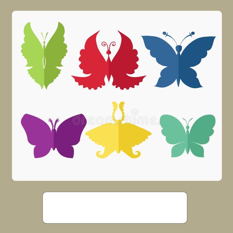 传染媒介例证-蝴蝶 图库摄影