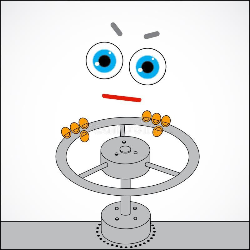 传染媒介例证-重叠气体 向量例证