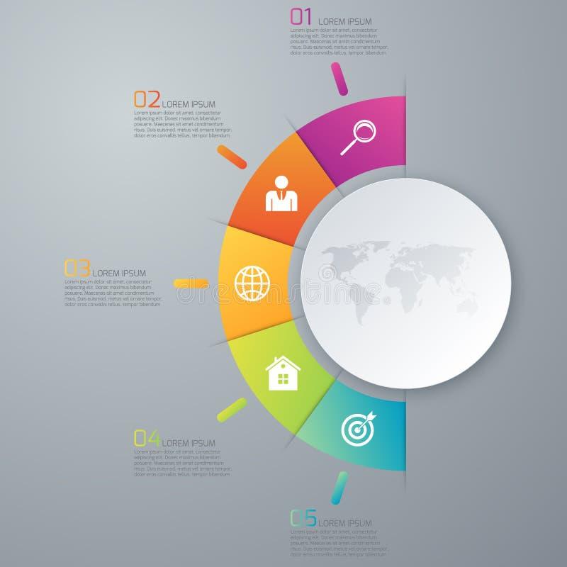 传染媒介例证infographic五个选择 向量例证
