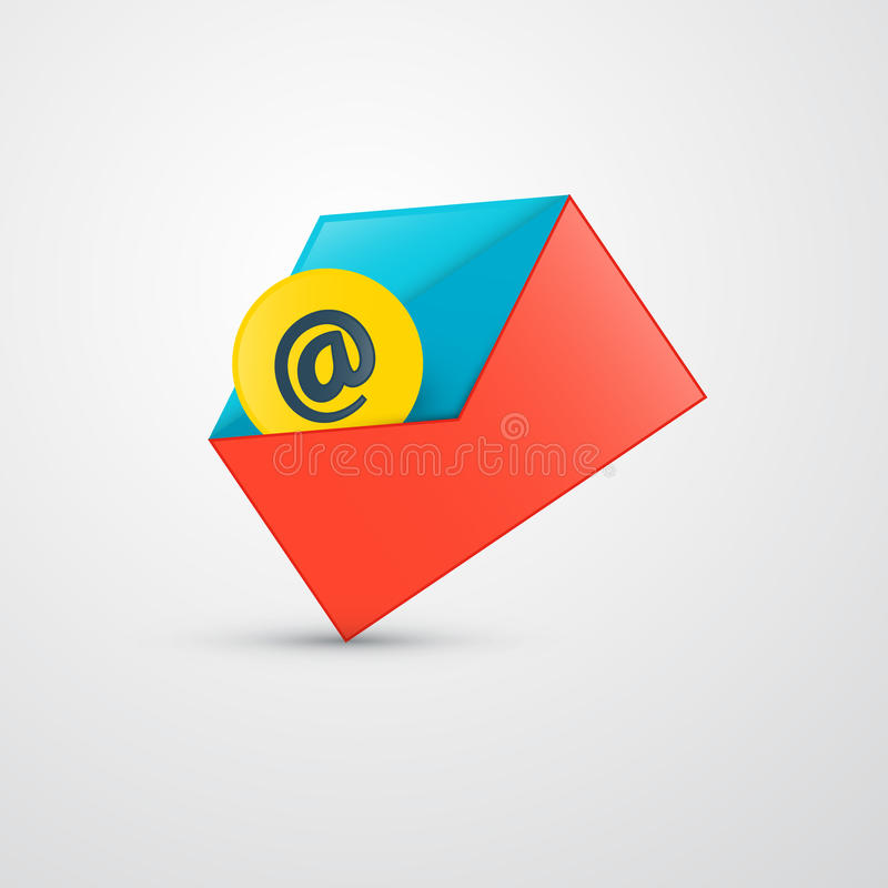 传染媒介信封-电子邮件象 库存例证