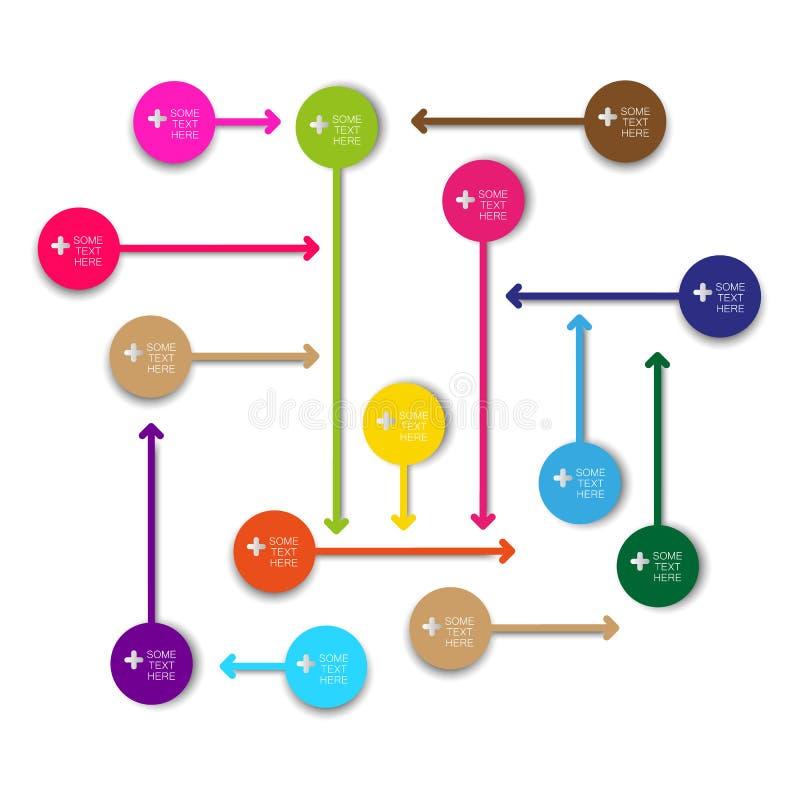 传染媒介信息图表箭头标记 向量例证