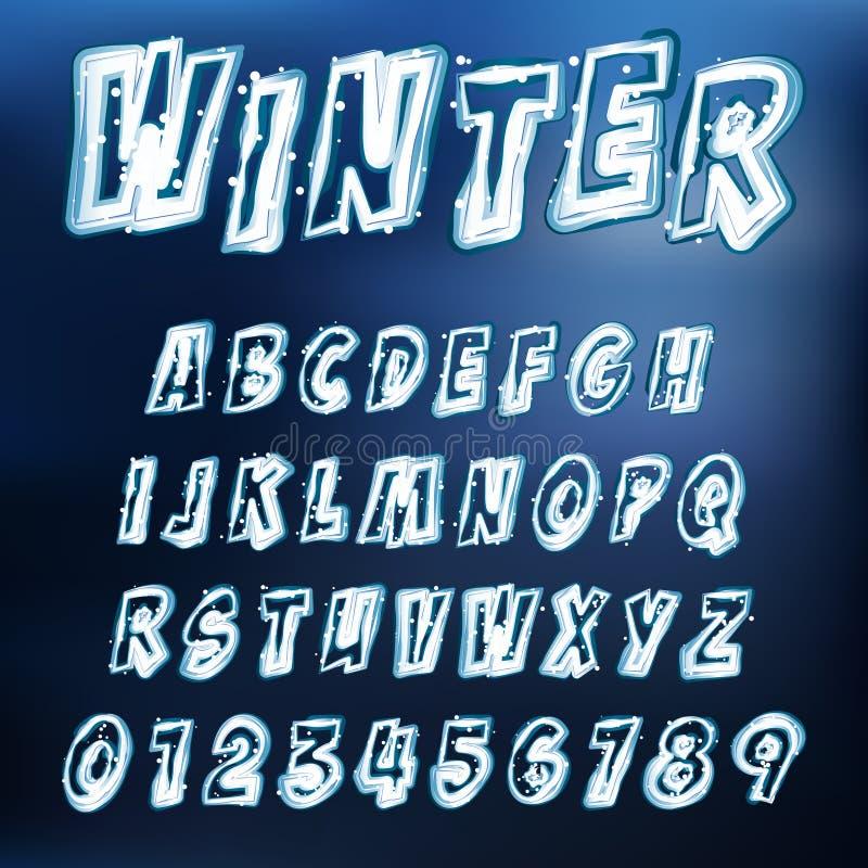 传染媒介冰冷的字体 皇族释放例证