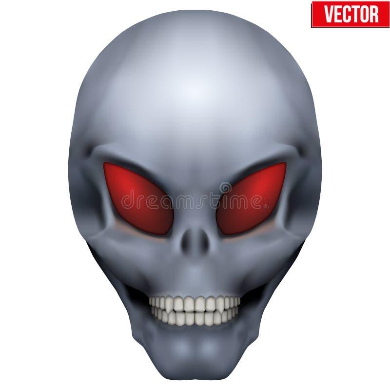 传染媒介创造性的有人的特点的外籍人头骨 皇族释放例证