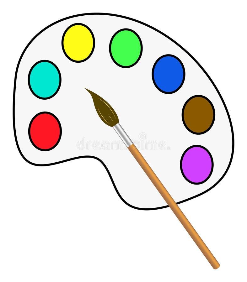 传染媒介刷子和油漆 库存例证