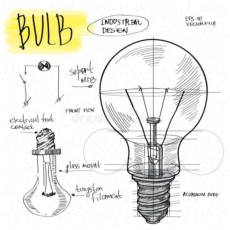 传染媒介剪影例证-电灯泡 向量例证