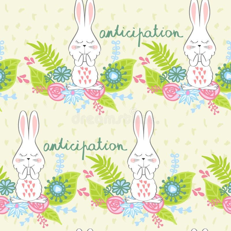 传染媒介动画片兔宝宝 库存例证