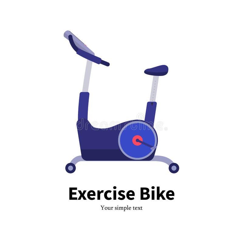传染媒介动画片固定式锻炼脚踏车 库存例证