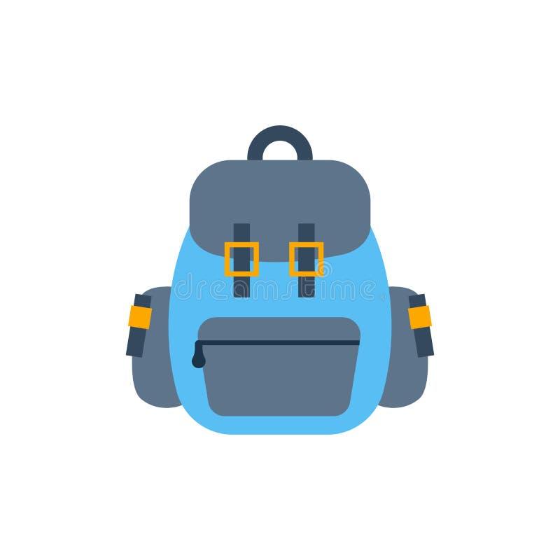 传染媒介动画片平的背包或体育手提箱 皇族释放例证