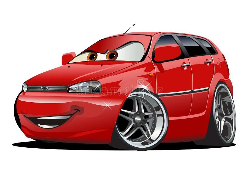 传染媒介动画片汽车 向量例证