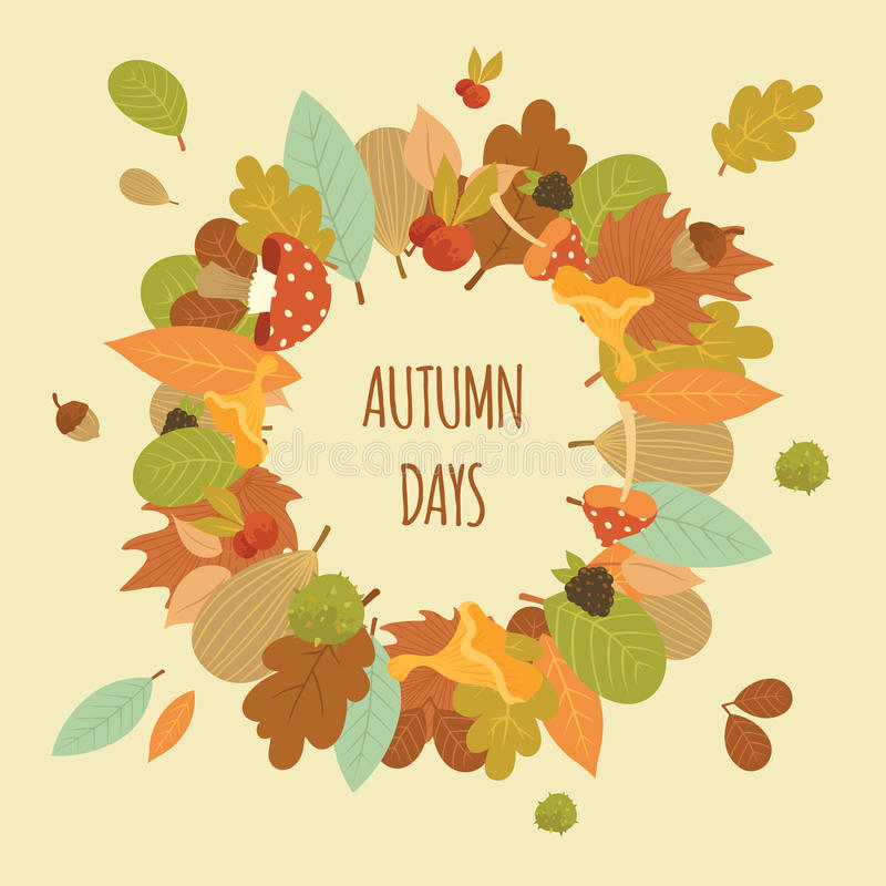 传染媒介动画片自然秋天框架图片