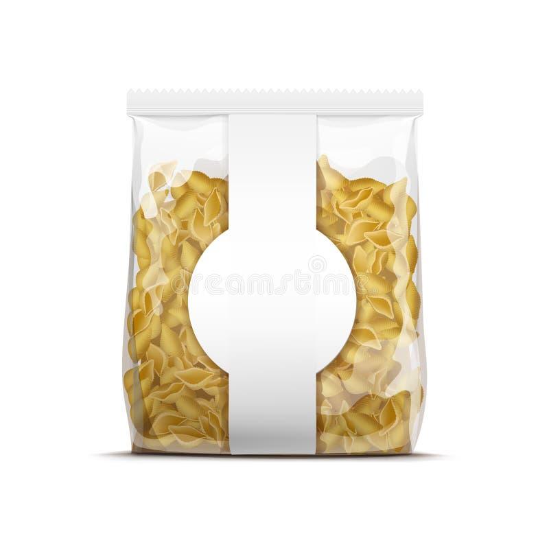 传染媒介包装模板的面团壳被隔绝 皇族释放例证