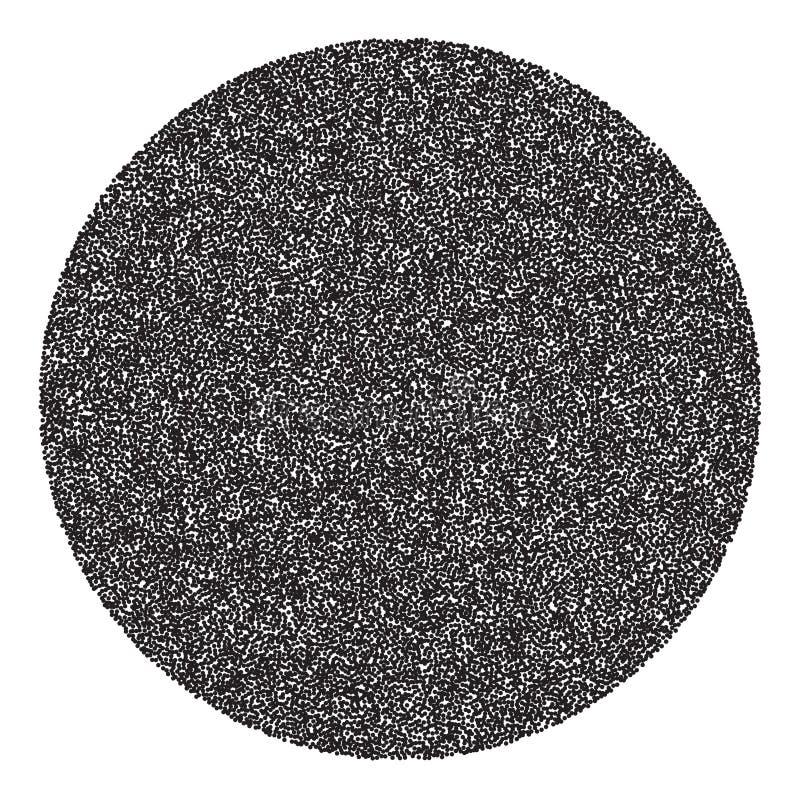 传染媒介半音圈子横幅 库存例证