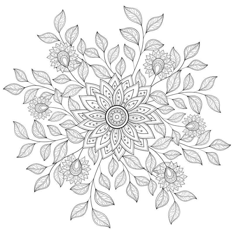 传染媒介单色花卉背景 向量例证