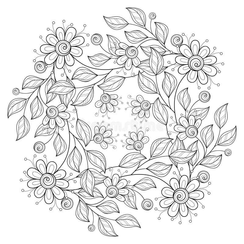 传染媒介单色花卉背景 皇族释放例证