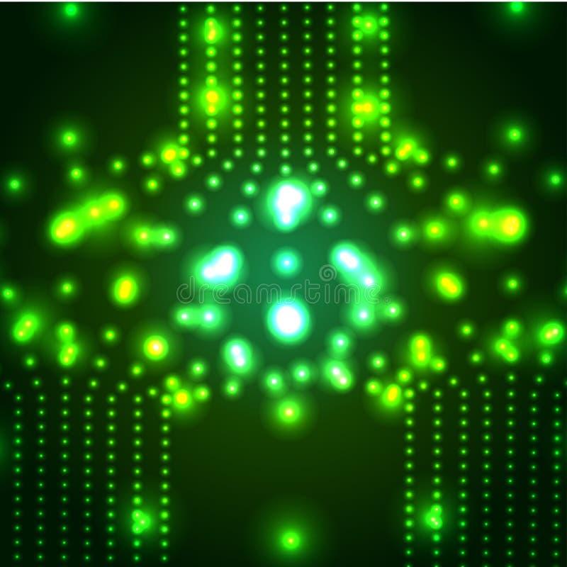 传染媒介发光的微波斯菊背景 EPS10 皇族释放例证