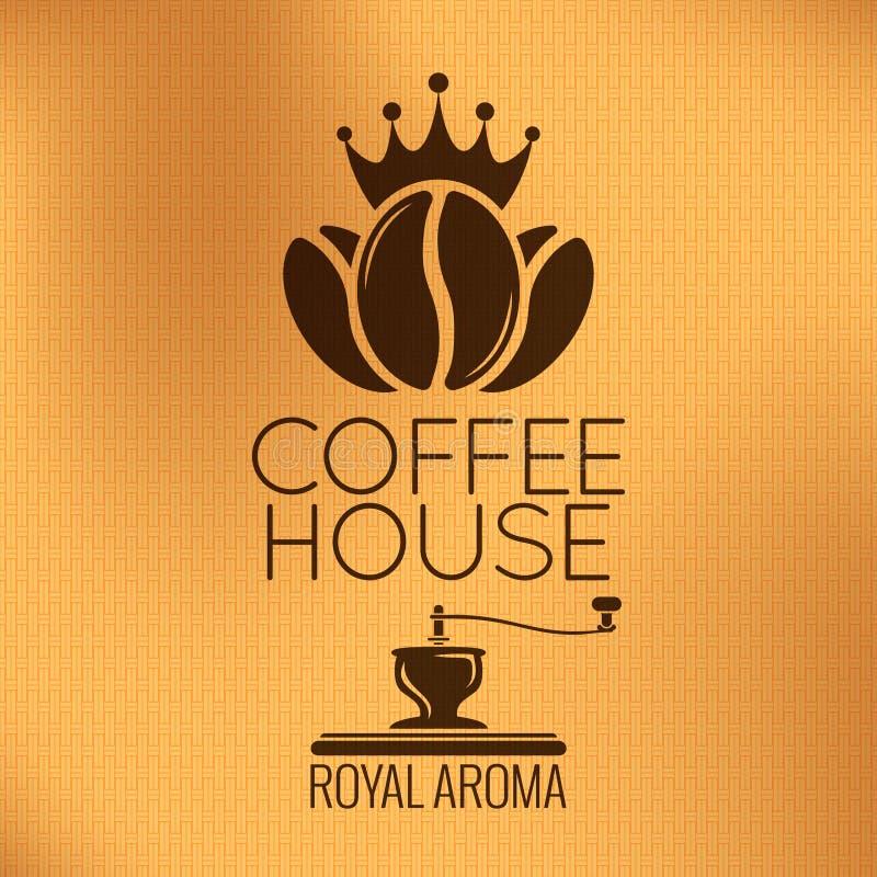 传染媒介咖啡豆标签 背景几何老装饰品纸张葡萄酒 皇族释放例证