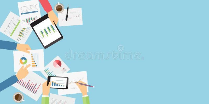 传染媒介商业投资和财务训练 库存例证