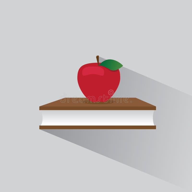 传染媒介商标书和苹果 皇族释放例证