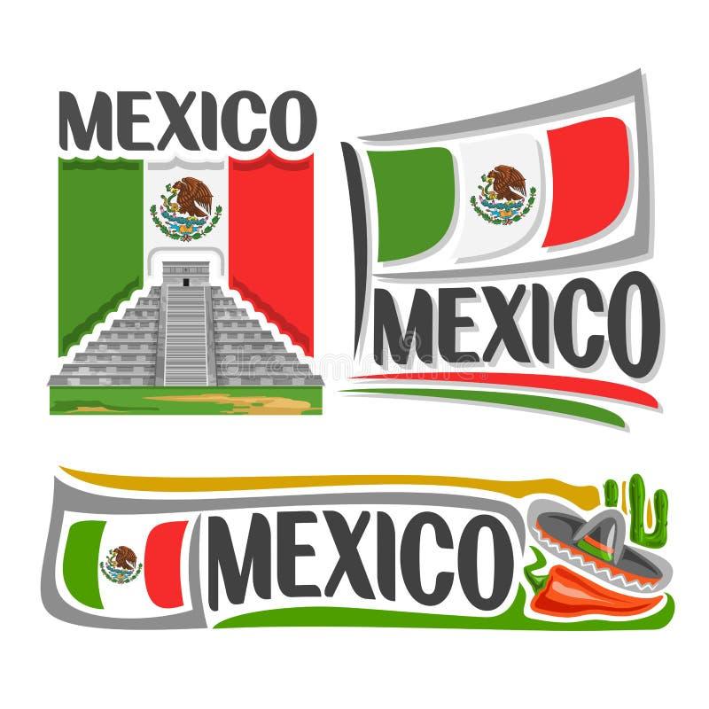 传染媒介商标墨西哥 库存例证